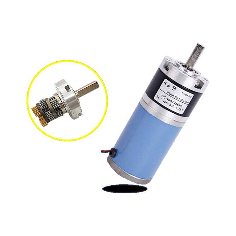 Planetary gear motor with shaft diameter 8mm / 12V 24V planetary gear motor / 45GX4568R DC gear motor image