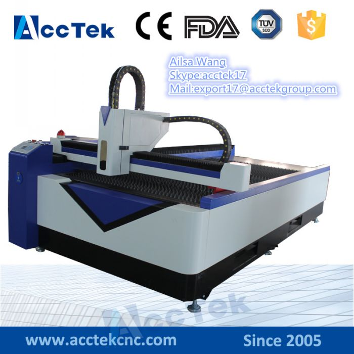 Jinan AccTek  CNC Fiber Metal Cutter Multi Function 500w Fiber Laser Cutting Machine For Iron , Stainless Steel