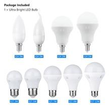NEW 220V E27 E14 Energy Saving LED Bulb Light Lamp 3W 5W 7W 9W 12W Cool Warm White SMD 2835/5730 For Home Lighting xunruixing p 005 e27 5w 320lm 8350k 20 smd 2835 led cool white light bulb white ac 220v