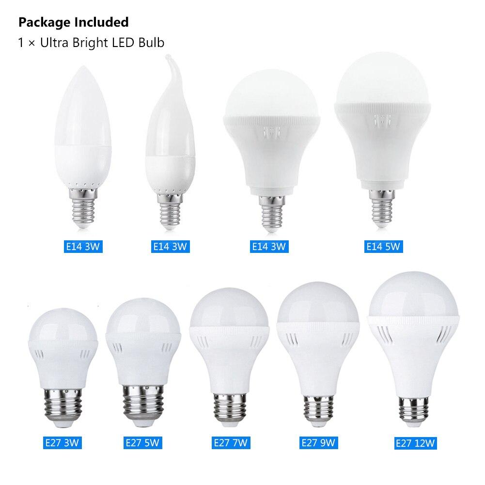 Nuevo 220V E27 E14 ahorro de energía bombilla LED lámpara 3W 5W 7W 9W 12W blanco frío cálido SMD 2835/5730 para la iluminación del hogar Lámparas de bombilla Led E27/E26 lámpara de mesa Flexible brazo oscilante abrazadera montaje lámpara Oficina estudio hogar mesa escritorio luz UE/EE. UU. Enchufe AC85-265V