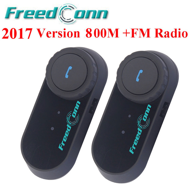 2pcs Original BT Intercom 800M Bluetooth Interphone Headset Motorcycle Helmet Intercom Speakers 2 Riders Intercom With FM Radio