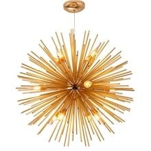 LuKLoy Loft Chandelier Light Pendant Lamp Dandelion Sparkle Sunshine Kitchen Counter Suspension Lighting Fixture Hanging Lamp
