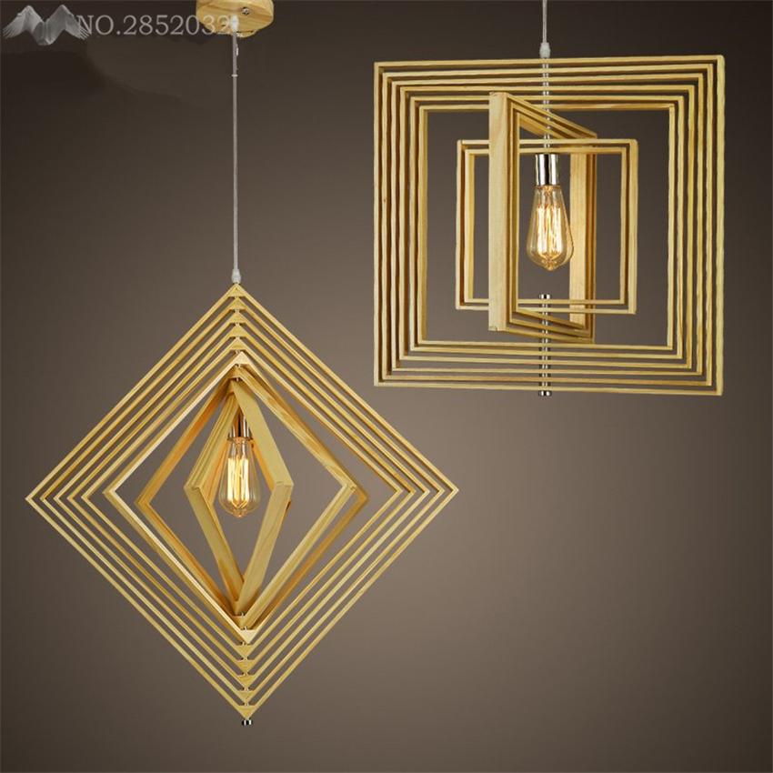 Nordic Kreative Einstellbare Geometrie Holz Pendelleuchten Fr Wohnzimmer Schlafzimmer Kche Zu Hause Beleuchtung Dekor