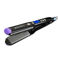 2016 Hot Hair Corrugated Iron LCD Digital Display Wide Plates Corrugated Shape Waving Corrugation Beauty Hair