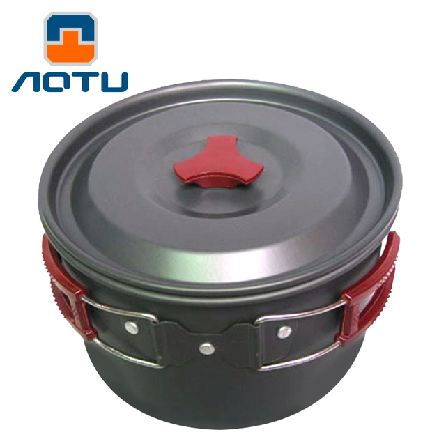 AOTU New 3L Oxidation Aluminum Large Single Pot Portable Non-stick Outdoor Hiking Camping Fishing Mountaineering Picnic Cookware
