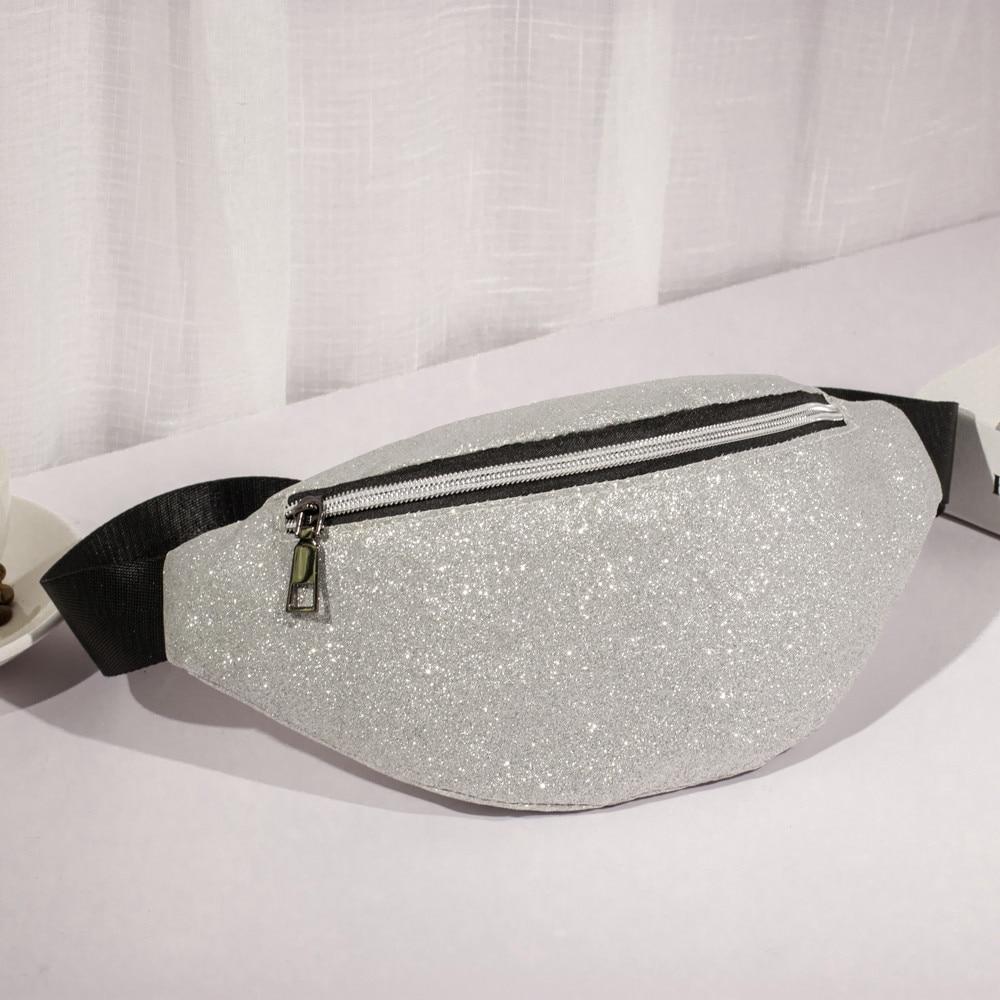 Waist Bag Women Waist Fanny Packs Belt Bags Luxury Fashion Women Bling Sequins Shoulder Messenger Chest Bag Heuptas Wandelen