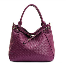 Maxdo High Quality Knitted Woven Pattern Women Handbag Genuine Leather Shoulder Bag Messenger Bag #M8819
