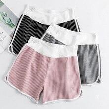 Stripe Maternity Leggings Spring Summer Maternity Clothes Korean Low Waist Comfortable Pregnancy Clothes for Pregnant Women недорого
