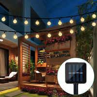 ECLH lámpara Solar 10M 50Led bola de cristal globo luz impermeable guirnalda de luz blanca cálida decoración de jardín al aire libre Solar Led cadena