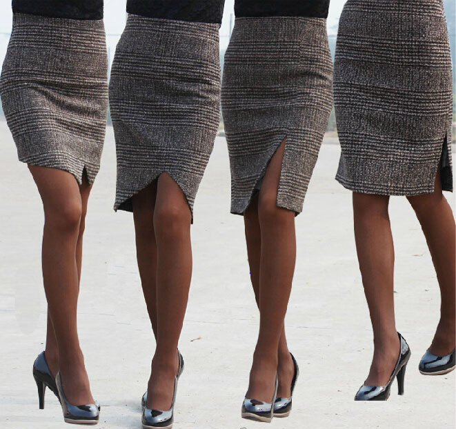 Popular Pencil Skirt Plaid-Buy Cheap Pencil Skirt Plaid lots from ...