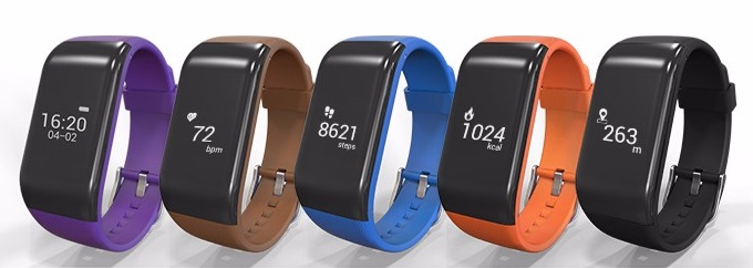 R1 Bluetooth Smart Bracelet Waterproof activity Fitness Tracker Heart Rate Monitor Smart Wristband Band for Android