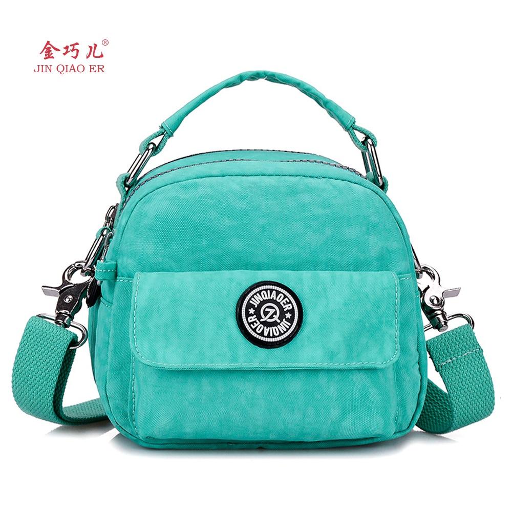 2016 New Women Fashion Handbag Monkey Candy Color Shoulder Nylon Bag Girls Small Messenger Bags Female
