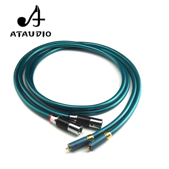 ATAUDIO Hifi RCA to XLR Cable Pure OCC High Quality 2 XLR Male to 2 ...