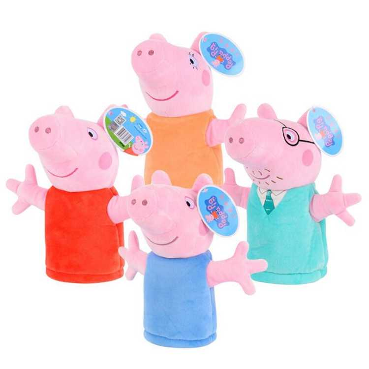 Animal Hand Puppets For Children Peppa Pig Hand Finger Puppets
