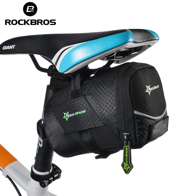 ROCKBROS Bicycle Bike Rear Top Tube Bag Waterproof MTB Bike Bicycle Rear Saddle Bag Cycling Rear Seat Tail Bag Bike Accessories