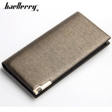 2019 Baellerry Men Long Wallets Fashion Card Holder Coin Pocket Business Purse Large Capacity Simple Solid Wallet For Male
