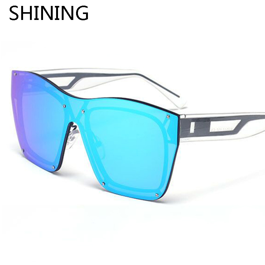 Are Frameless Glasses In Style 2016 : 2016 New Fashion Oversize Frameless Goggle Sunglasses Men ...