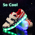 2016 Hot New Spring Autumn Kids Sneakers Luminous Lighted Colorful LED Lights Children Shoes Flat Boy Girl Shoes