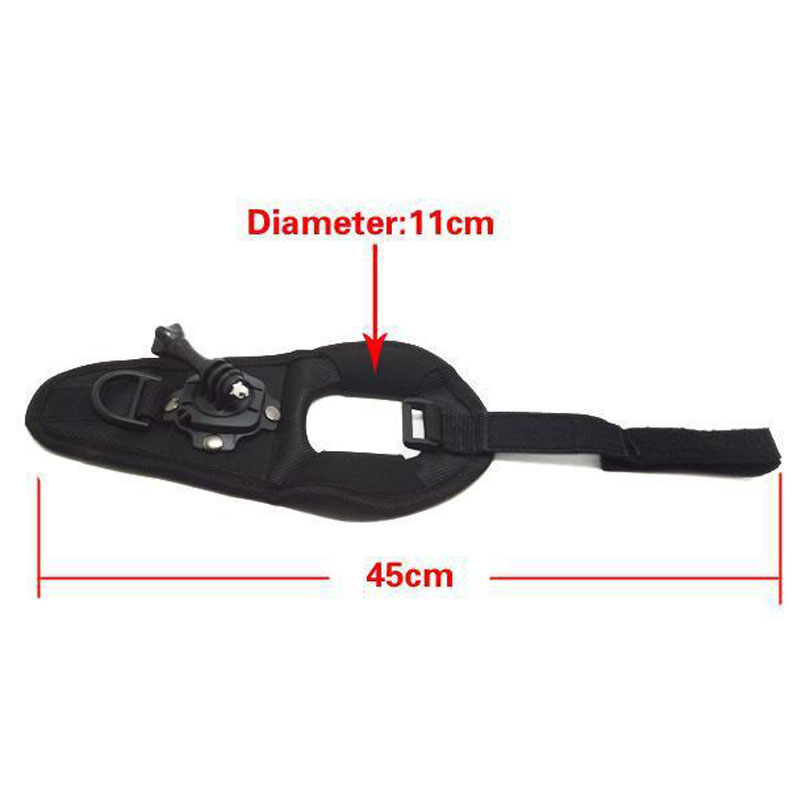 360-Degree Rotation HQS Glove type Wrist Strap Band Mount For GoPro Hero 5 4 3+ 2 SJCAM SJ4000 SJ5000 SJ5000X M10 Xiaomi Yi Cam