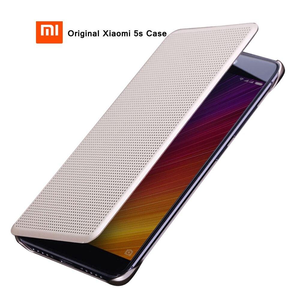 bilder für Original xiaomi mi5s fall catman basierend auf Snapdragon 821 Smart Dot View Premium leder smart flip abdeckung fall für xiaomi mi5s