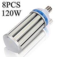 [8 adet/paket] E40 Fabrikalar için 120 W SMD5730 Yüksek Güç LED Mısır Işık Depo Park Sokak Enerji Tasarrufu ampul Toptan