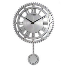 16 Inch Brief Modern Wall Clock Digital Mute Wall Watch Modern Design Europe Metal Gear Clock Wall Living Room Home Decor