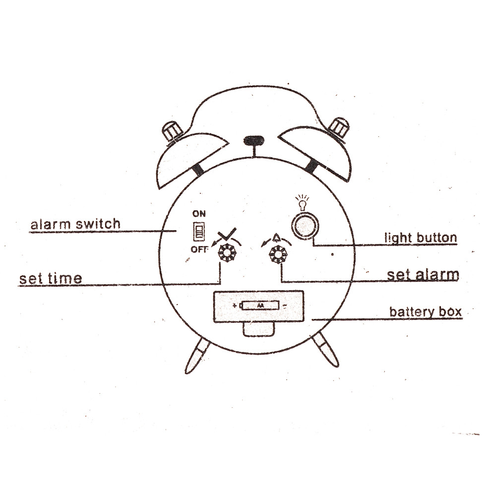 Two Way Bell Switch Switches Doityourselfhelpcom Light Dimmer Diagram Wiring Alarm Clock Classic Simple Metal Shell