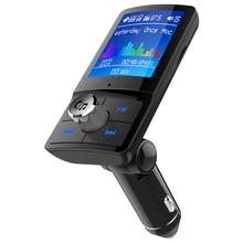 Bluetooth 4.2 Handsfree BC45 Car MP3 player FM Transmitter AUX Audio Receiver Car USB multi-language Support TF Card / U Disk все цены
