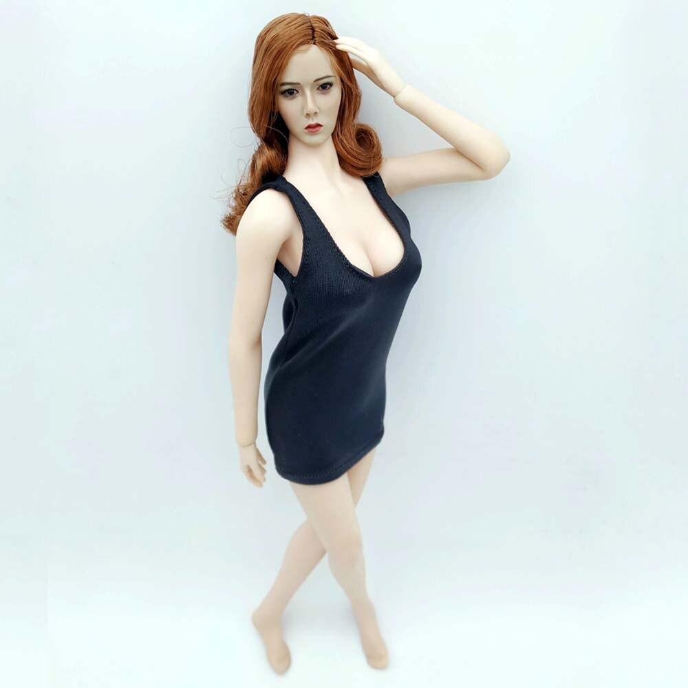 Robe libre 1/6 figurine Super Flexible forme européenne femme sans couture corps femme soldat modèle pour corps de poupée Phicen JIAOU
