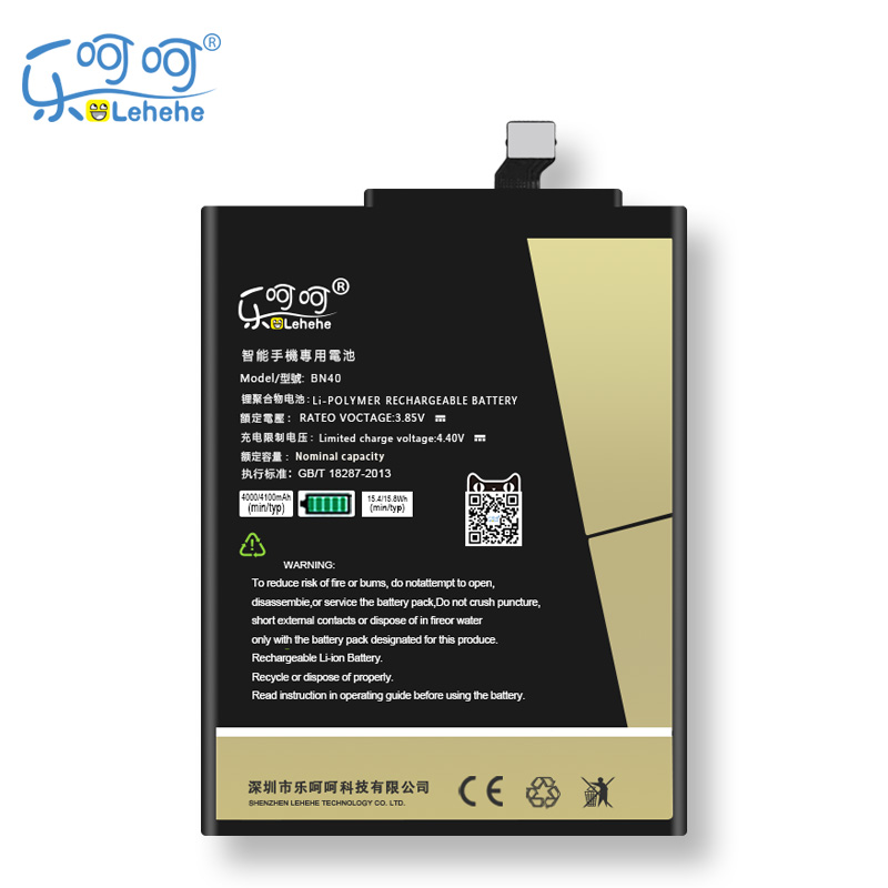 Original LEHEHE BN40 Battery For Xiaomi Redmi 4 Pro 4100mAh High Capacity Replacement Bateria Free Tools Gifts