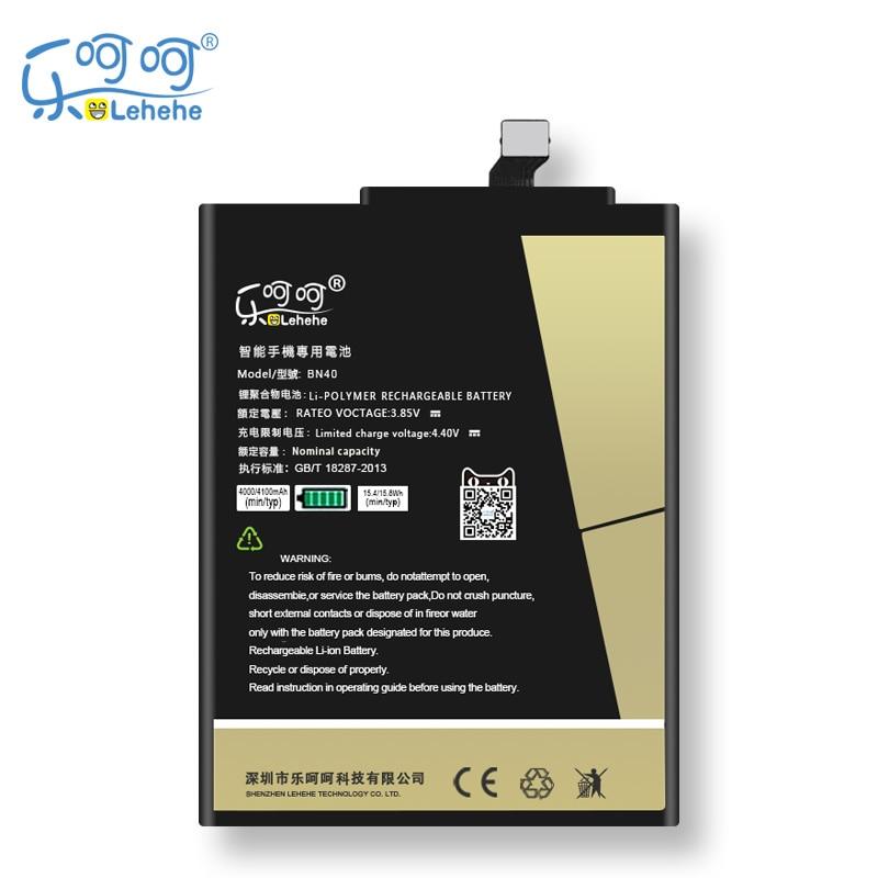 Original LEHEHE BN40 Battery For Xiaomi Redmi 4 Pro 4100mAh High Capacity Replacement Bateria Free Tools Gifts