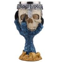 Horror Stainless Steel Goblet 3D Skull Skeleton Claw Wine Glasses Glass Beer Steins Halloween Party Drinking