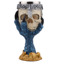 Horror Stainless Steel Goblet 3D Skull Skeleton Claw Wine Glasses Glass Beer Steins Halloween Party Drinking Glass Whiskey Cup