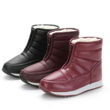 2019 Fashion Snow Boots Wedge Women Warm Fur Ankle Flats Shoes Female Winter  Botas Mujer