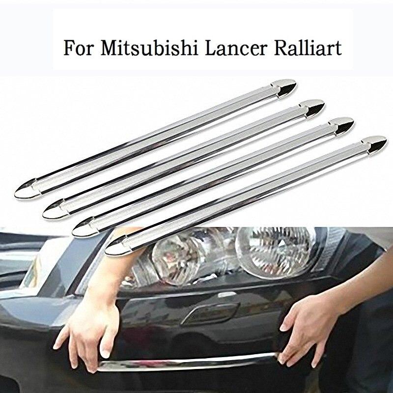 4 Uds nueva carrocería parachoques Protector pegatina Anti-Rub Barra de parachoques del coche tiras para Mitsubishi Lancer Ralliart estilo de coche