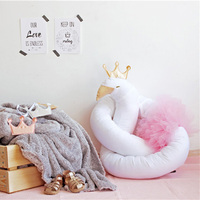 Newborn Baby Bumper Crib Cot Protector Stuffed Toddler bedding Protector Long Sleep Swan Elephant Bumpers Kids Room Decor 190CM