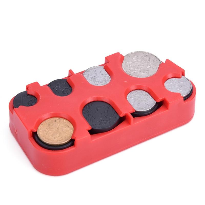 4 Color Mini Euro Coin Dispenser Plastic Coin Collection Purse Wallet Organizer Holder For Bus Taxi Car Coin Changer Holder