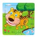 2015 HOT 15*15*0.5 см Деревянные Детские игрушки Головоломки Животных Головоломки для Детей Образования и Обучения Головоломки игрушки