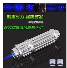 Sale Blue violet  Laser Pointer 500mw Military Laser Cigarette Lighter High Powered Burning Laser Verde 18680 Battery