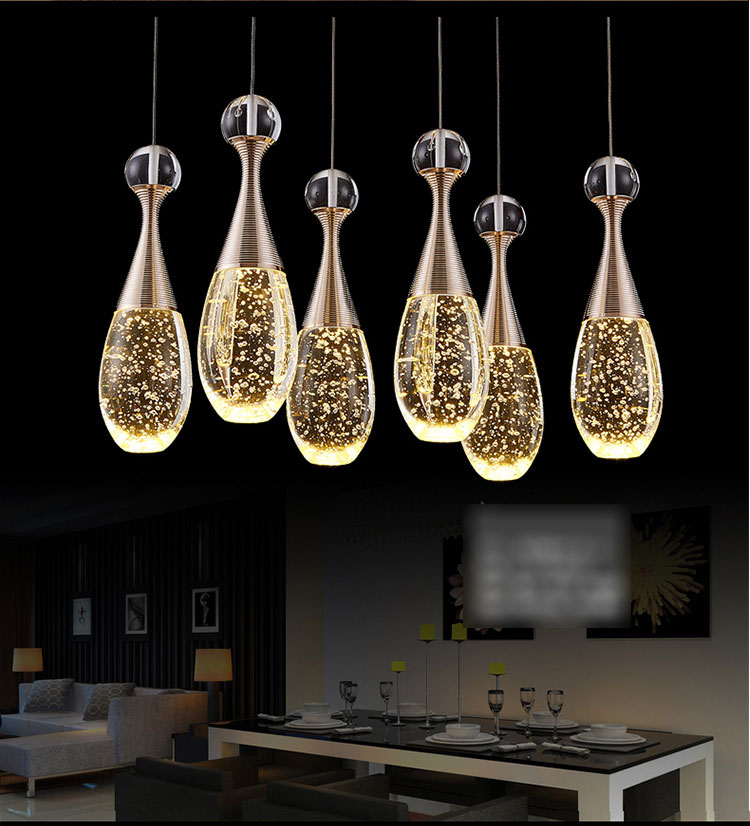 Led crystal Pendant Lights restaurant dining room modern simple three table table bar single staircase ceiling lamp rectangular dining room pendant lights european style led crystal pendant lights modern restaurant lamp bar cafe creative lamps