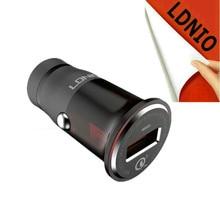 Rápido Cigarro QC 3.0 5 V 12 V usb enchufe adaptador de Carga toma de corriente Cargador de coche con el Cable para El Iphone 7 LG cámara tablet mp3 mp4