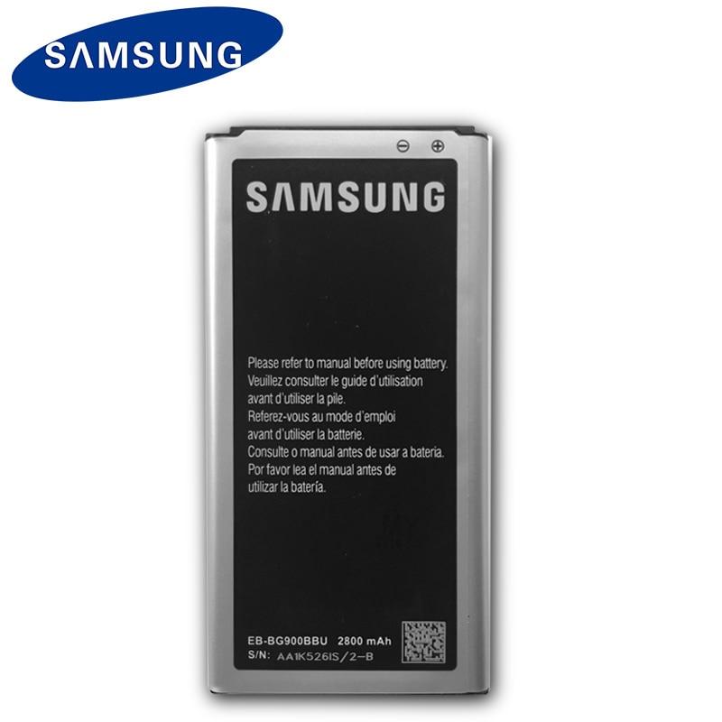 Bateria original de samsung EB-BG900BBU EB-BG900BBC 2800 mah para samsung s5 g900s g900f g900m g9008v 9006 v 9008 w 9006 w g900fd nfc