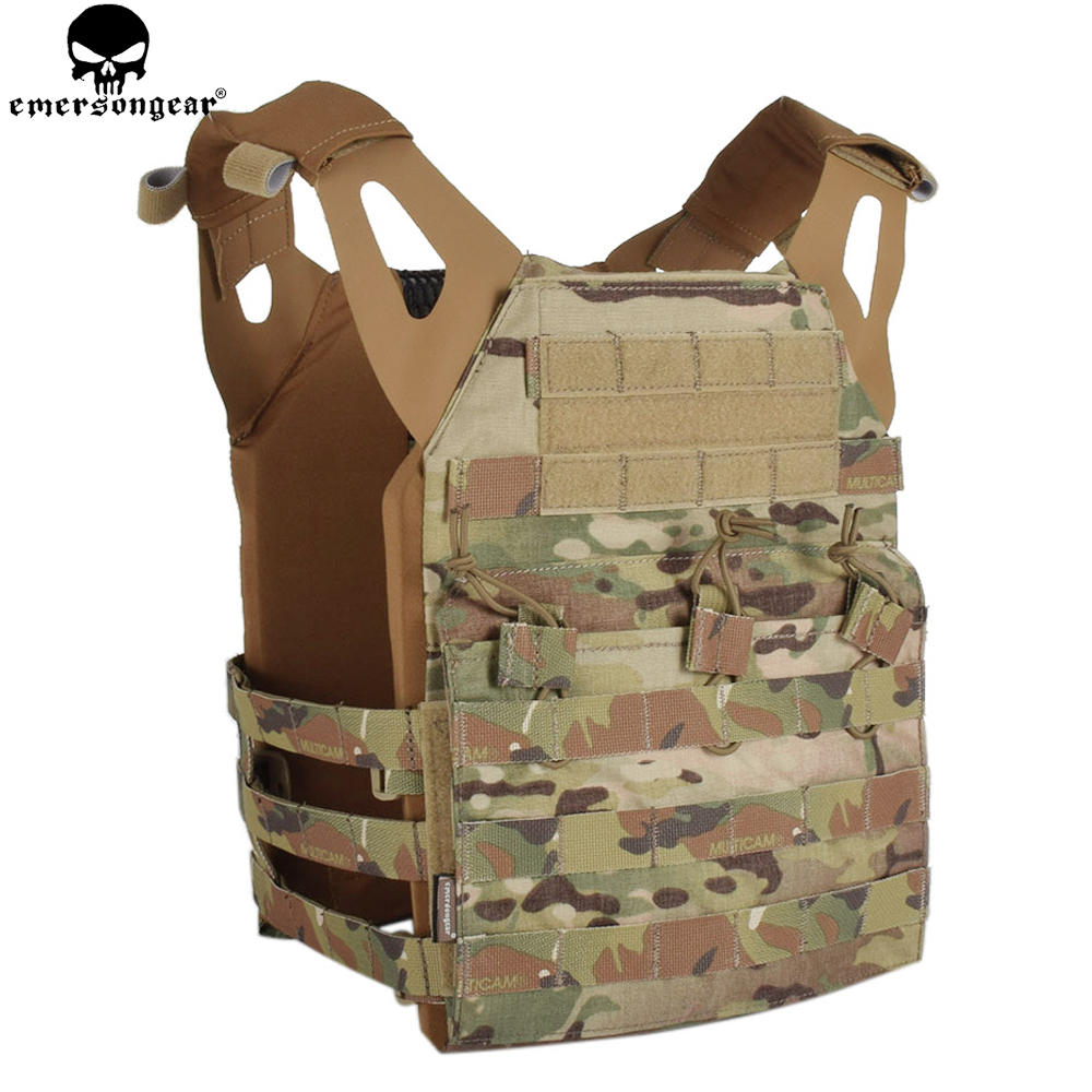 EMERSONGEAR Tactical Vest MOLLE JPC Vest Airsoft Paintball Molle Vest Chest Protective Plate Carrier Multicam Combat Vest EM7344 3 litres of water bag military usmc tactical combat molle rrv chest rig paintball harness airsoft vest multicam