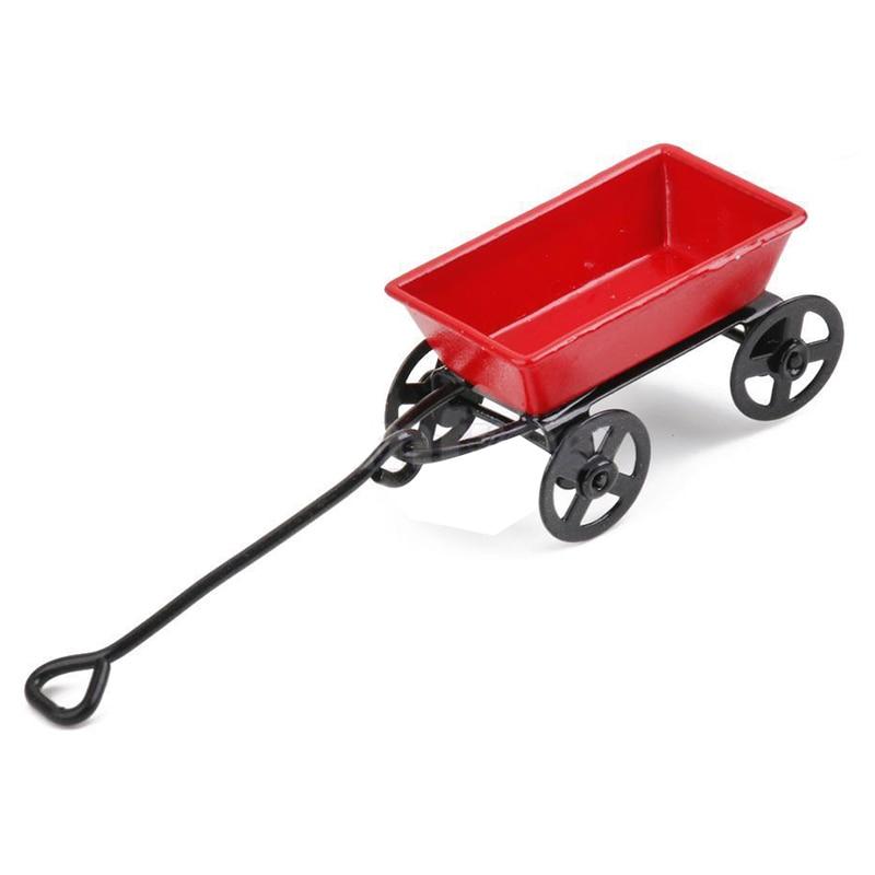 1:12 Кукольный Миниатюрный Сказочный Сад автомобиль красный и черный