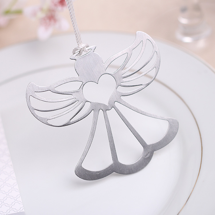 10PCS Silver Finished Metal Angel Bookmark Wedding Gift Baby Birthday Party Souvenir&Giveaway For Guest