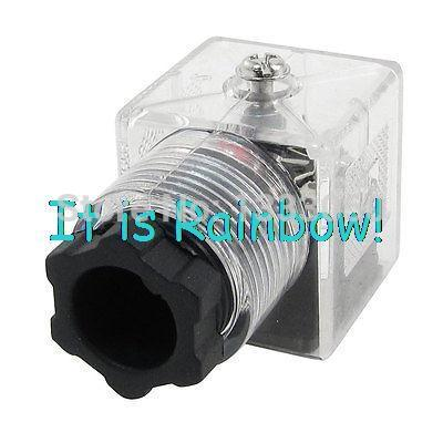 Free Shipping Repairing Part 3 Pin DIN Plug LED Solenoid Valve Connector AC 220V free shipping dsg 03 3c3 220v ac 1 4 solenoid operated directional control valve terminal box type plug in connector type