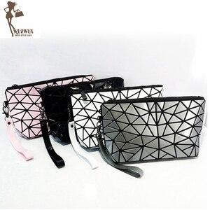 new fashion women make up bag geometric