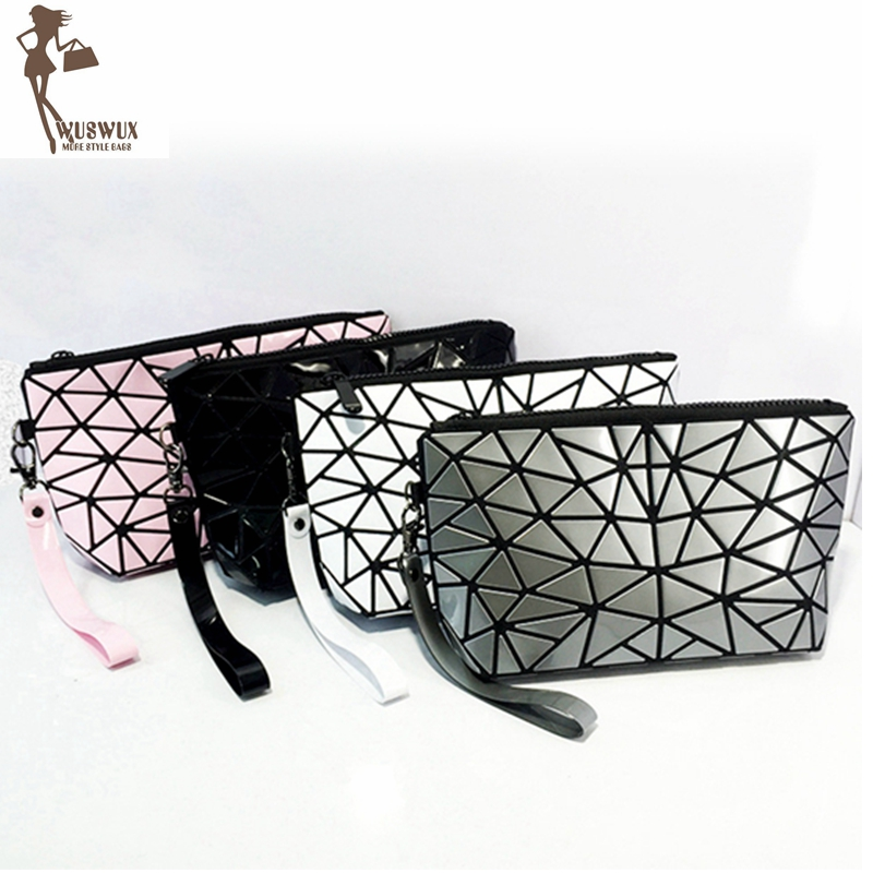 New Fashion Women Make Up Bag Geometric Casual Cosmetic Bag Cases Travel Organizer Makeup Case Toiletry Kit Beauty Bags A18831c