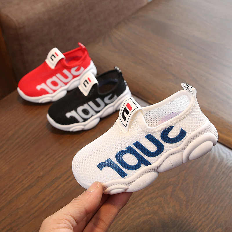kid shoes for Boys Girls Breathable Letter Print Anti-Slip Shoes children's Sneakers Toddler Soft Soled children's shoes