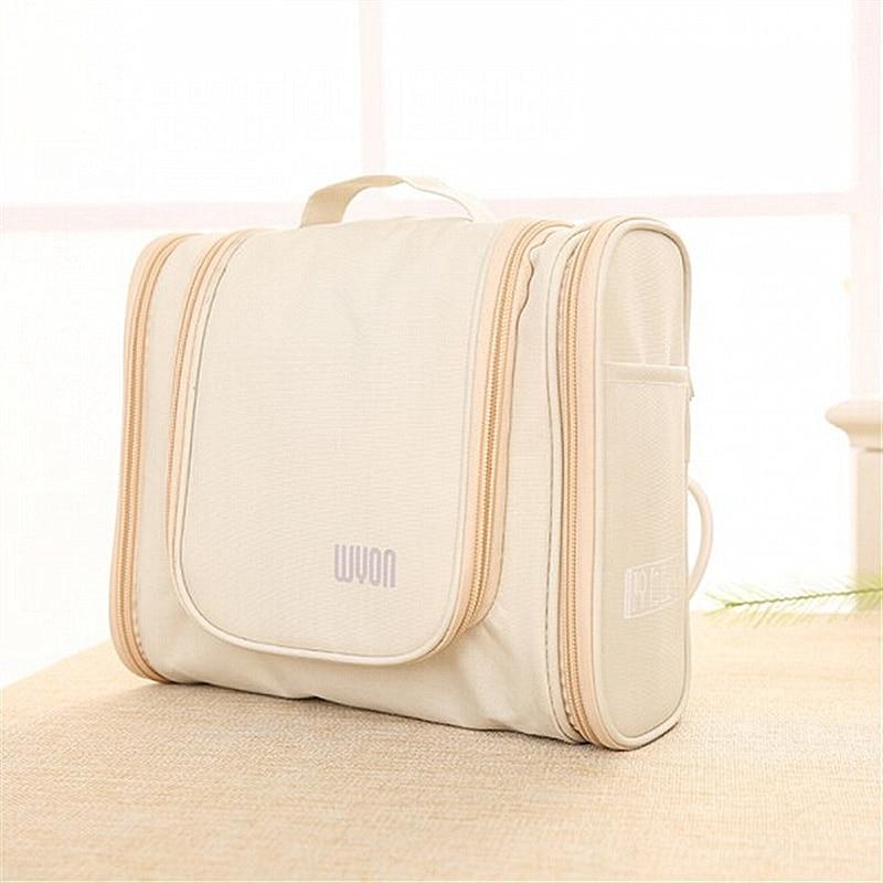 Купить с кэшбэком Men's Travel Portable Large Necessary Make Up Cosmetic Bag Women Waterproof Hanging Toiletry Wash Organizer toilet bag